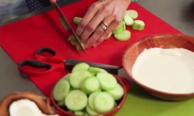 Recette de velouté de concombre au lait de coco
