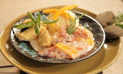 Recette de crevettes au potiron et lait de coco
