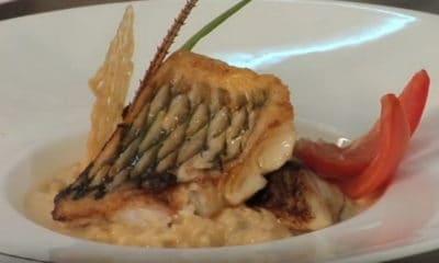 Recette de filet de perroquet, risotto crémeux à la langouste et parmesan