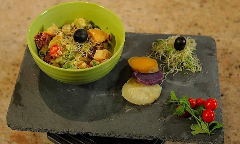Recette de la salade de papate douce de Maeva SHELTON