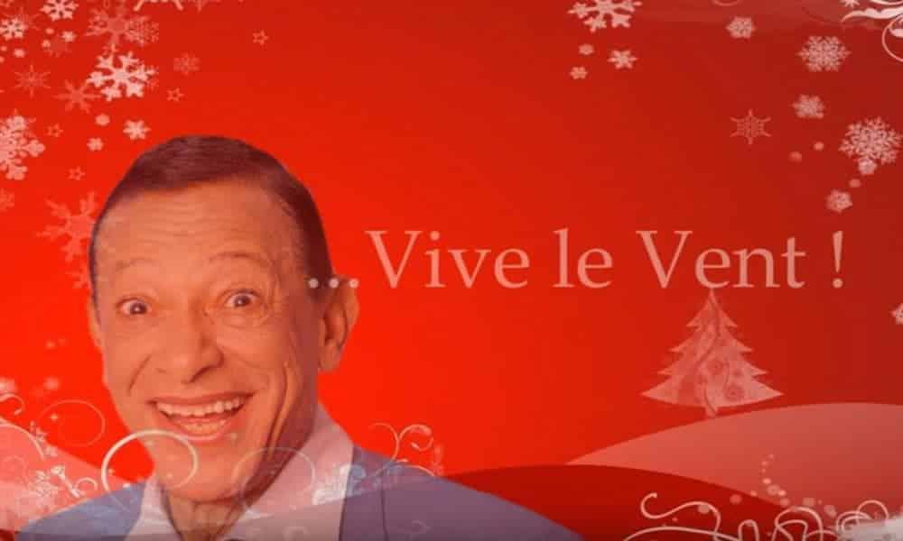 Henri SALVADOR chante Vive le vent, une belle chanson de Noël